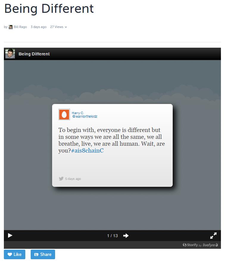 storify slideshow