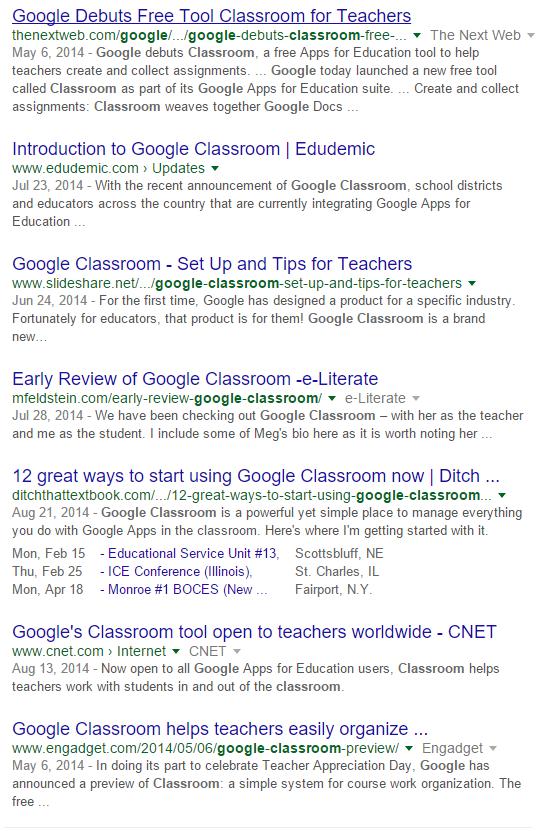 classroom news 2014
