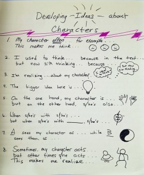 developing ideas about character